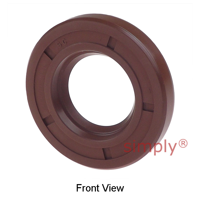 10x18x5mm SC / R21 Single Lip Viton Rubber Metric Shaft Oil Seal with Spring