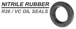 14x22x4mm Nitrile Rubber Rotary Shaft Oil Seal Springless Design VC Style