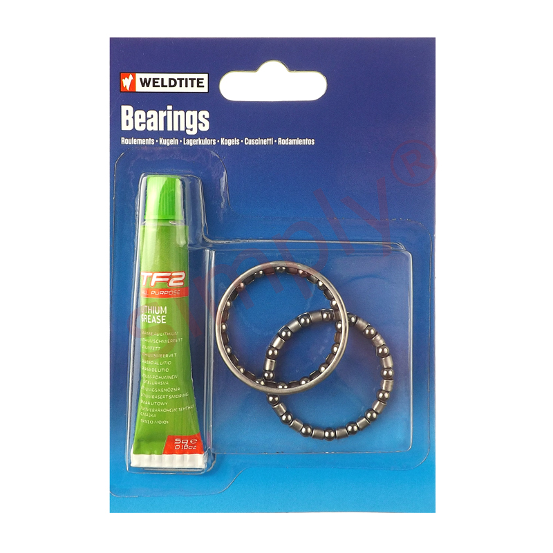2x 532 inch Case Hardened Ball Bearings in Cage Retainers & TF2 Lithium Grease