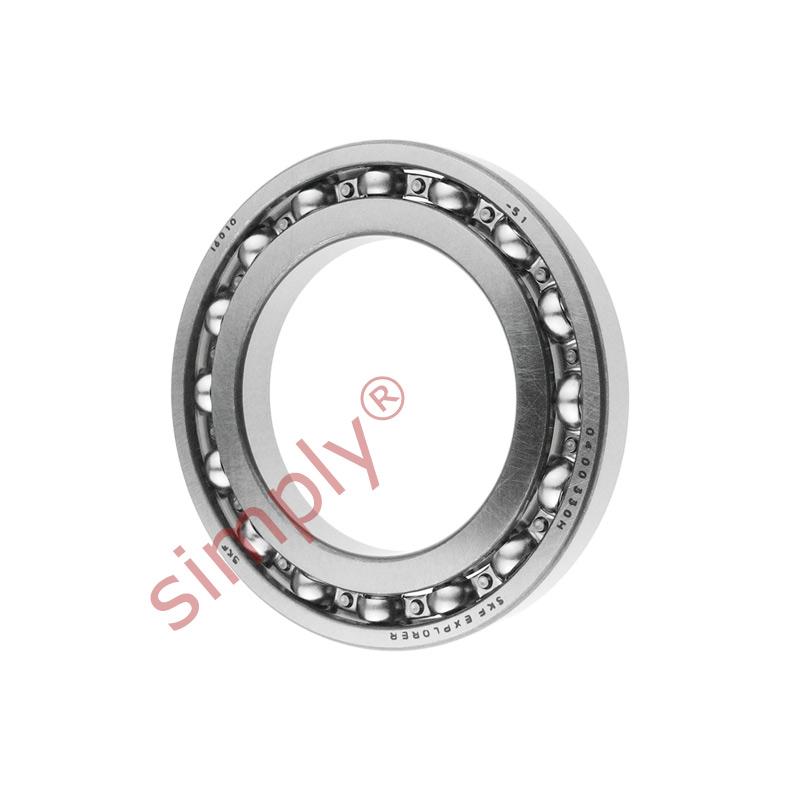 SKF 16010 Open Deep Groove Ball Bearing 50x80x10mm