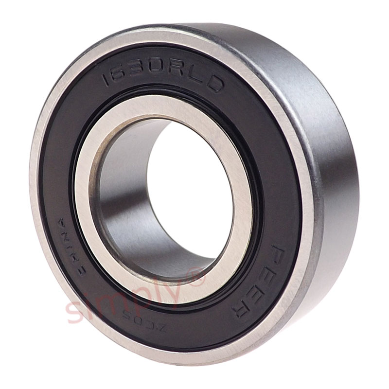 Peer 1621ZZ Metal Shielded Deep Groove Ball Bearing 0.5x1.375x0.4375 inch
