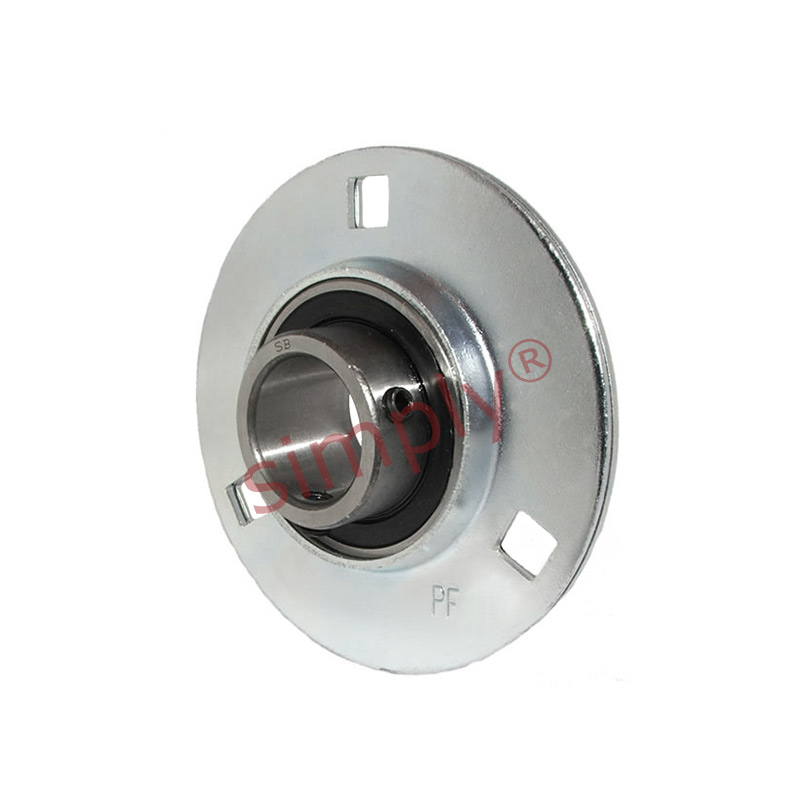 Sbpf206 round 3 bolt pressed steel bearing housing with for House bearing