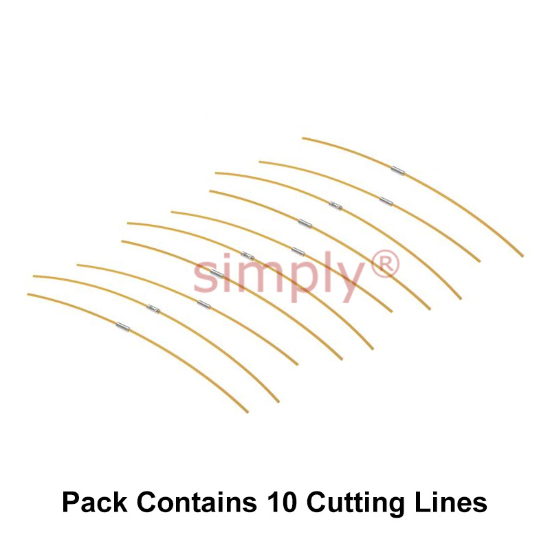 Black and Decker GL685 Yellow Strimmer Trimmer Lines Cords BD145-10 Pk