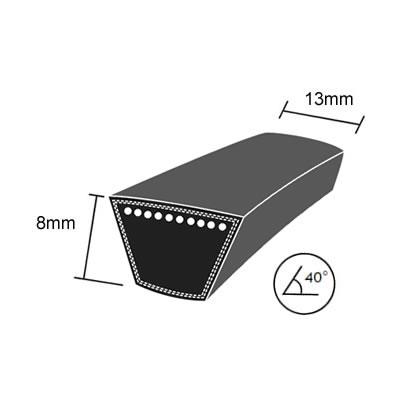 DRY-4L720K Quality Brand Re-inforced Mower Wrapped V-Belt