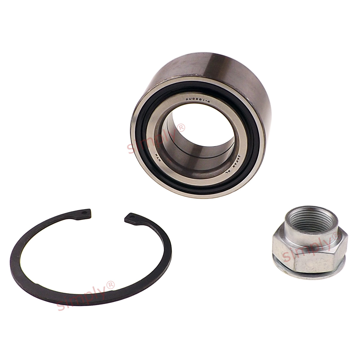 MC2 1.8 Front 97 to 01 B18C4 Firstline Wheel Bearing Kit fits HONDA CIVIC MB6