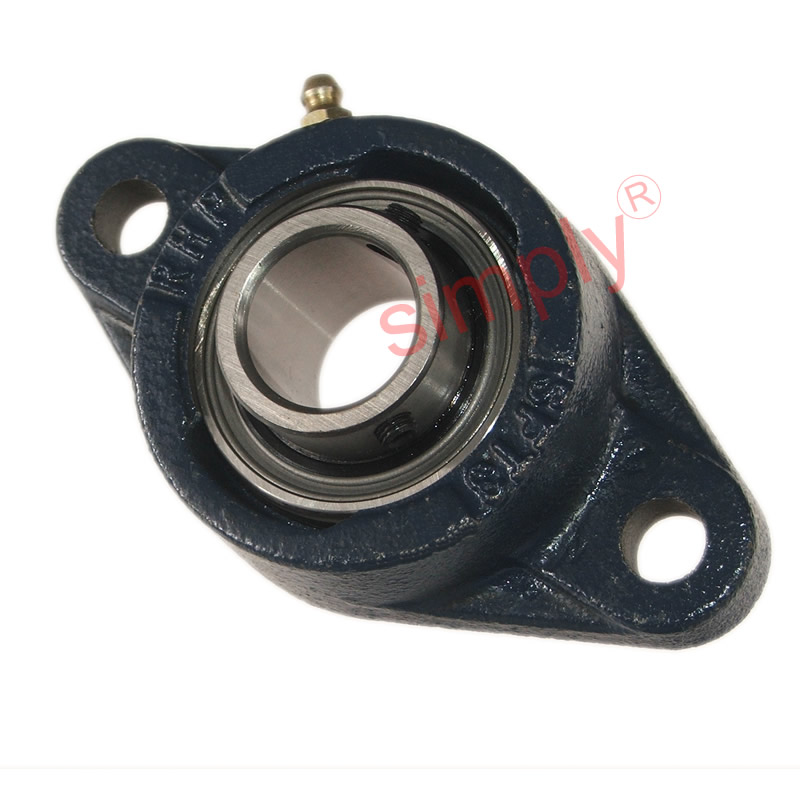 Rhp sft two bolt oval cast iron flange housing mm bore
