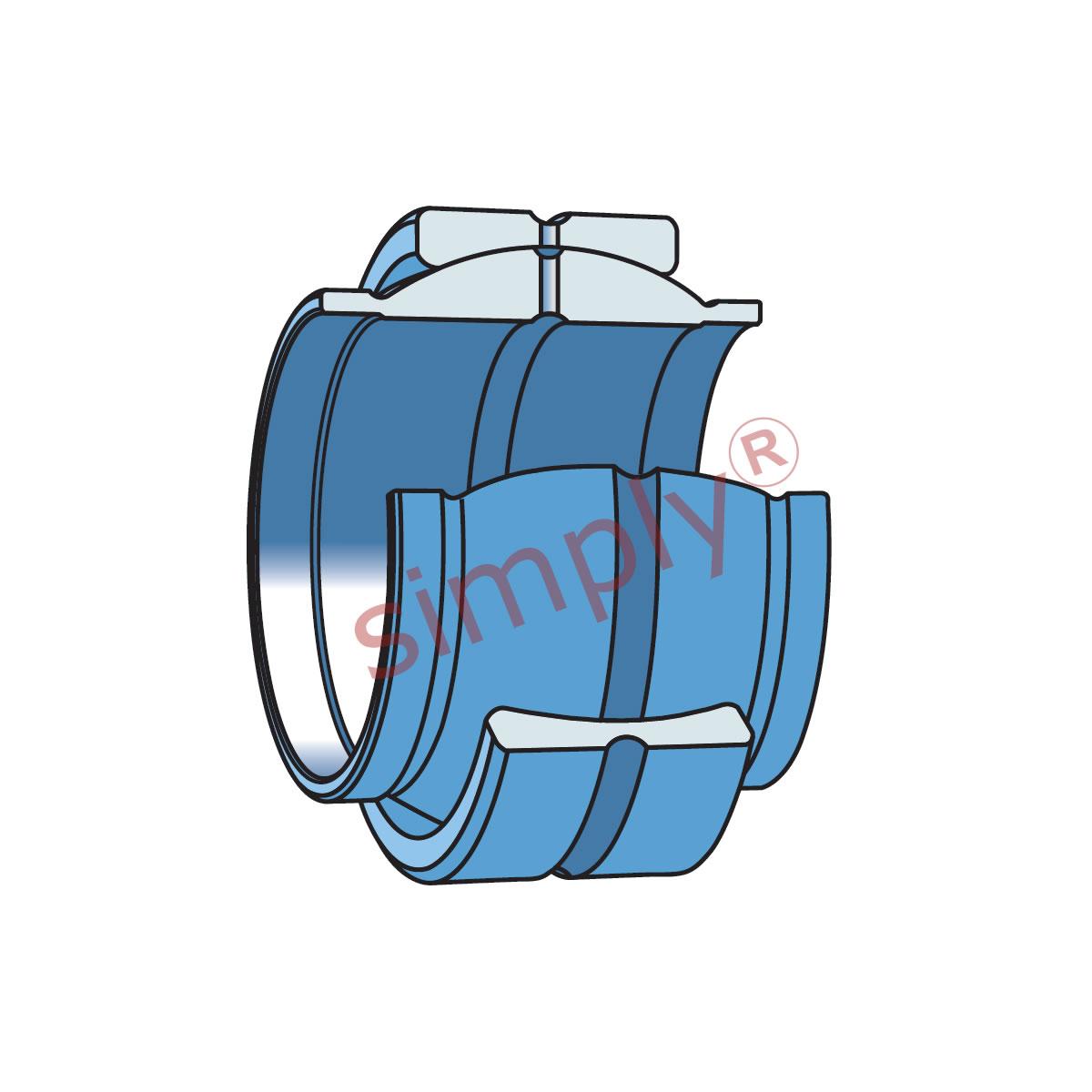 Extended Inner SKF Spherical 16mm x 28mm x 16mm GE16LO