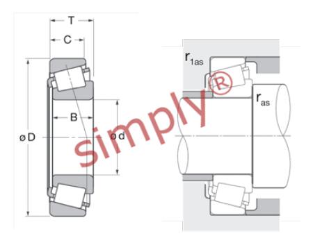 32915 Premier Budget Metric Single Row Taper Roller Bearing 75x105x20mm