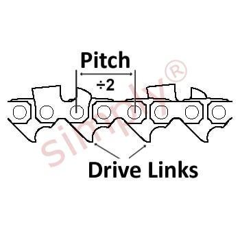 ALM Chainsaw Chain Pitch