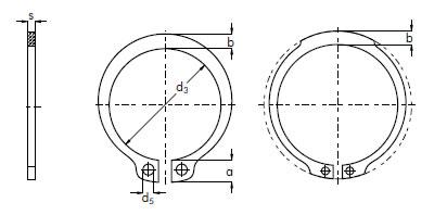 Schematic External Circlips
