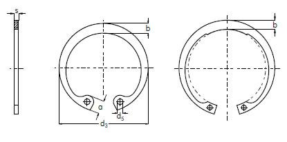 Schematic Internal Circlips
