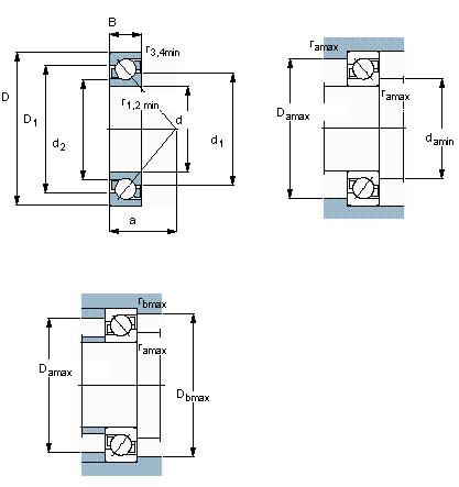 7202BECBP 15x35x11mm SKF Single Row Angular Contact Ball Bearing