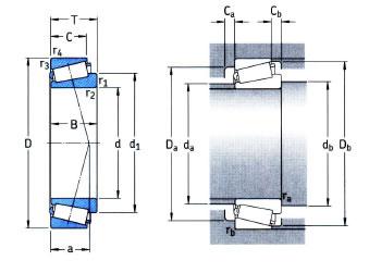 SKF Metric Taper Roller Bearing