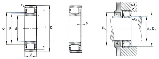 N Cylindrical Roller Bearing
