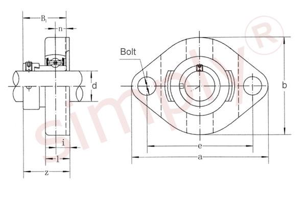 safw204 4 inch bore simply bearings ltd