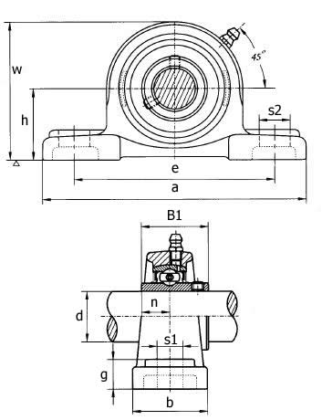 Schematic ~ 2 Bolt Plummer Block