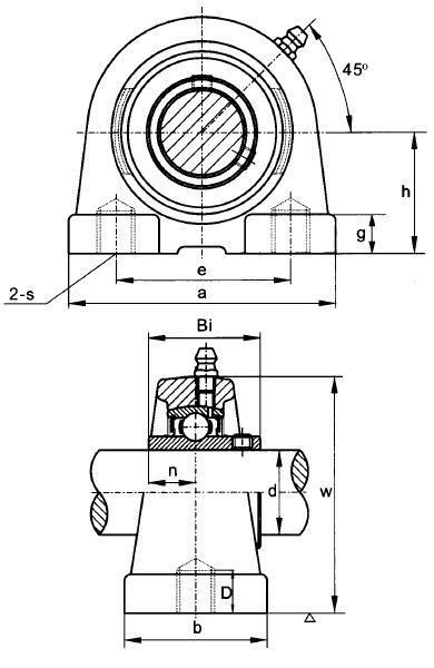 Schematic ~ Metric Flanged Cartridge Unit