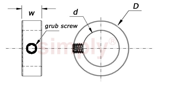 Shaft Collar Schematic diagram